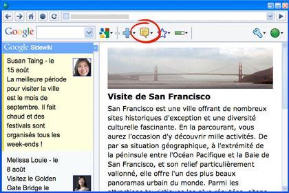 Google SideWiki : si tu ne viens pas au social, le social viendra à toi !