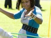 Michelle Obama Plutôt douée pour Hula hoop