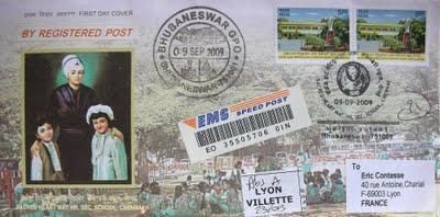 3 nouveaux courriers d'Inde