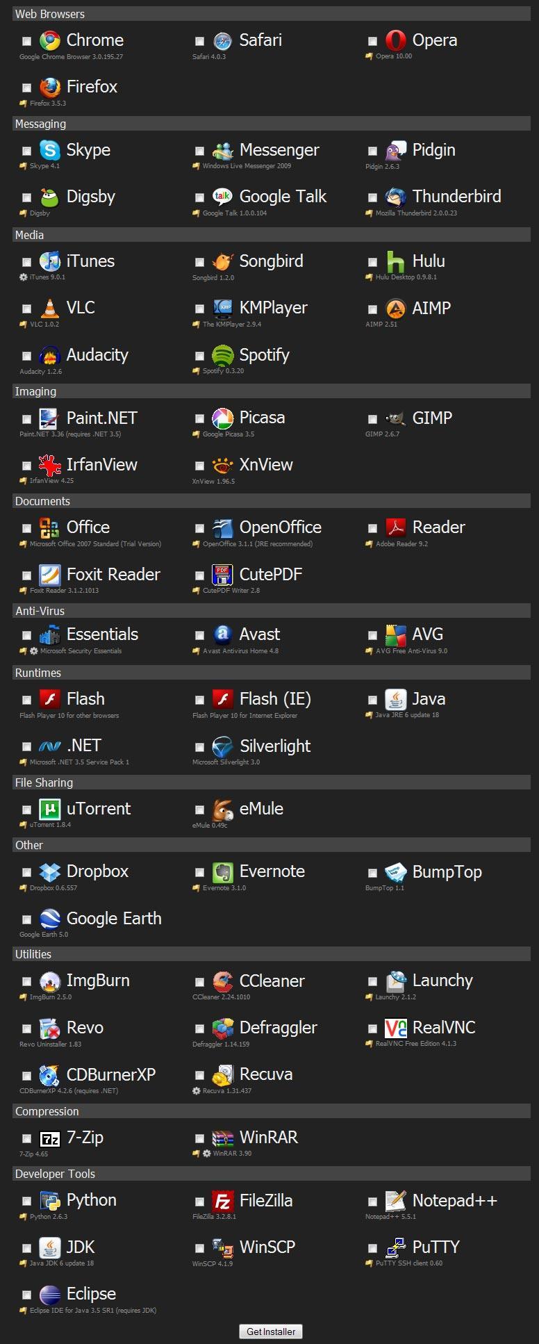 """""""Ninite""""     installer d'un seul coup tout un tas d'applications essentielles Ninite-installer-60-logiciels-pratiques-seul--L-1"""