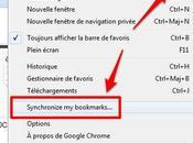 synchronisez favoris avec Google Documents Chrome