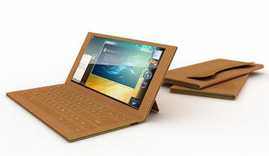 une ordinateur portable en carton recyclable o0 lire. Black Bedroom Furniture Sets. Home Design Ideas