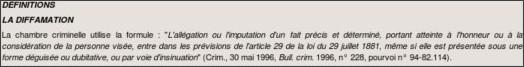 http://www.courdecassation.fr/publications_cour_26/bulletin_information_cour_cassation_27/bulletins_information_2006_28/no_649_2193/communications_2195/droit_presse_diffamation_injure_9508.html