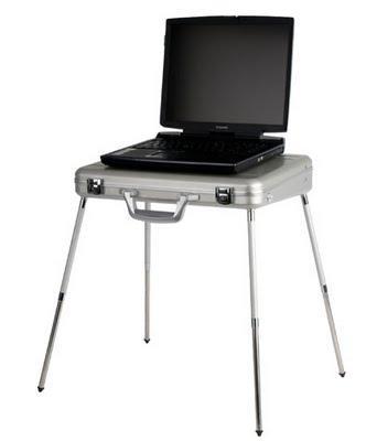 Un mallette table pour pc portable paperblog - Table roulante pour ordinateur portable ...