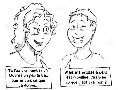 La saga des petites triches - Chap 1 Le brossage de dent (2)