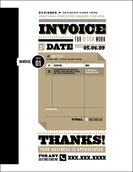 10 Creative Invoice Template Designs – Best Invoice Template