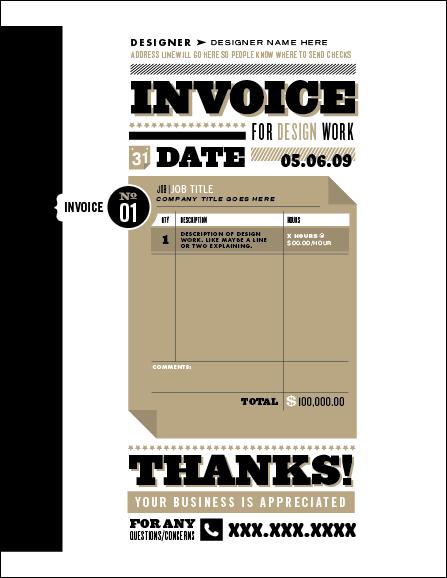 10 creative invoice template designs twelveskip