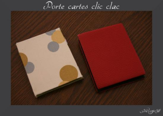 tuto porte carte clic clac magique paperblog. Black Bedroom Furniture Sets. Home Design Ideas