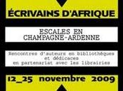 Festival Ecrivains d'Afrique escales Champagne-Ardenne