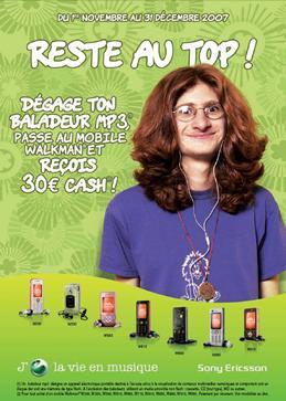 30€ remboursé pour l'achat d'un mobile Walkman de Sony Ericsson