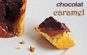 TARTELETTE AU CHOCOLAT AMER-CARAMEL A LA FLEUR DE SEL