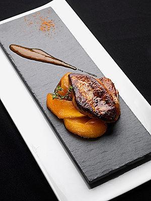 foie gras po l la mangue et jus pic paperblog. Black Bedroom Furniture Sets. Home Design Ideas