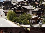 Illusion d'optique dans village suisse.