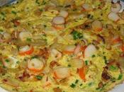 Omelette surimi