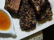Tataki thon sauce clémentine épicée