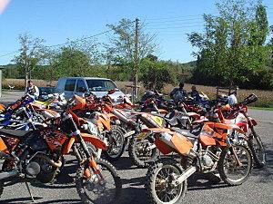 Engagement Balade Verte Téléthon Moto Club des Monts (87) le 05-12-09
