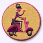 ecusson fashion patch brodé customize.fr scooter edition limitee