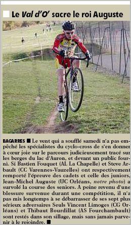 Cyclo cross à Bourges - Jean-Michel Auguste (UC Orléans)