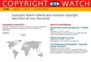 Copyright Watch, un oeil sur le droit d'auteur à l'international