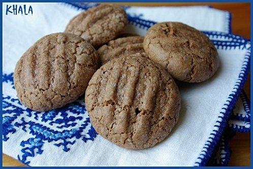 biscuits cacahuètes et cacao pour un goûter sans gluten