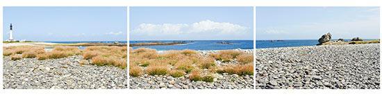 Galets près du phare de l'île de Sein