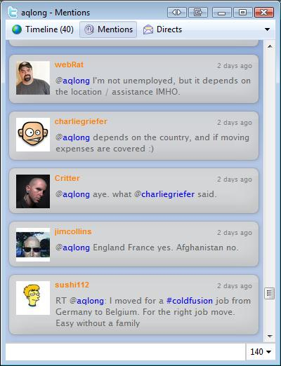 Recruter sur Twitter : le cas Peoplexs (@aqlong)
