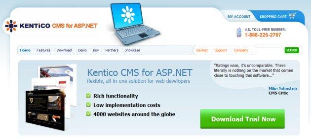 cms asp.net, kentico cms