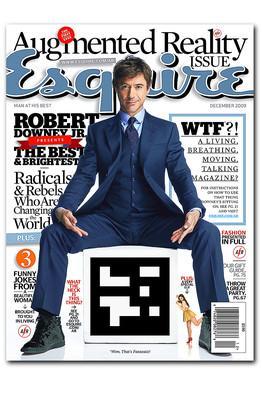 Esquire : Robert Downey Jr en réalité augmentée