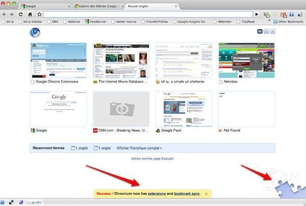 chrome extensions1 Google sapprêterait à lancer un répertoire de modules pour Chrome