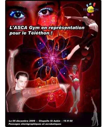 Affiche ASCA Gym au Téléthon