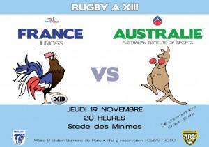 Affiche France - Australie Junior