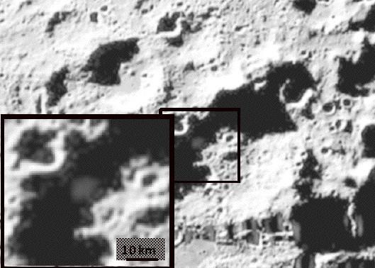 Panache après la collision dans le cratère Cabeus