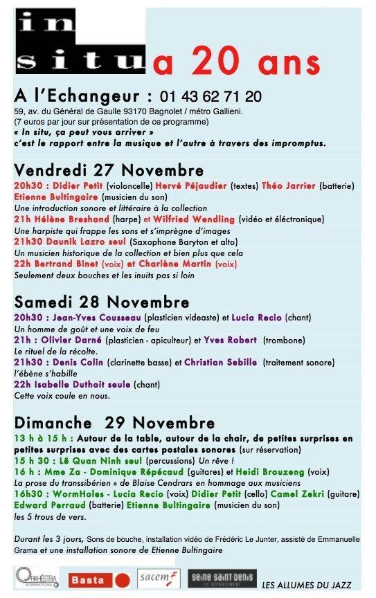 Wormholes 3 du 27 au 29 novembre à l'Echangeur