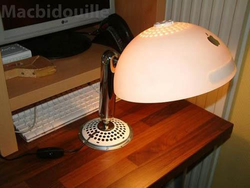 iMac G4 recyclé en lampe design