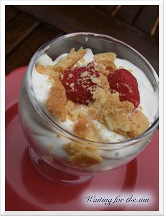 ≈ TRIFLE AUX FRAMBOISES, un dessert simplissime ≈