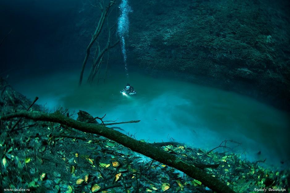 Une rivière sous l'eau