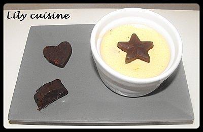 Mousses aux deux chocolats et aux marrons