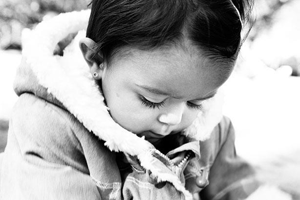 portrait horizontal d'enfant