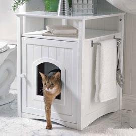 Un peu de feng shui pour les bac liti re paperblog for Meuble litiere chat