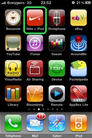 Icône Nike + iPod