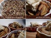 Tarte poires, fond tarte graines