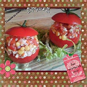 Tomates au crabe