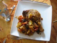 Tagine de canard aux fruits secs: à table !