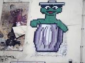 Space Invader l'image Macaron, glouton Sésame