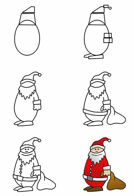 comment dessiner un pere noel