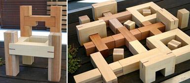 Un jeu de construction en bois pour que nos chers bambins for Mobilier japonnais