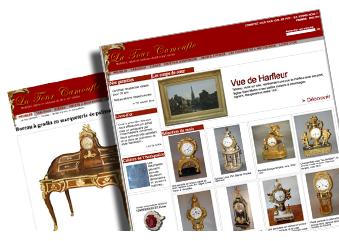 Site e-commerce antiquaire Tour Camoufle