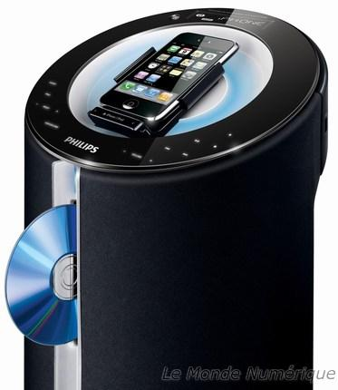 station d accueil pour ipod et iphone avec lecteur de cd. Black Bedroom Furniture Sets. Home Design Ideas