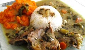 Rôti de Dinde au lait de coco curry