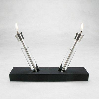 Lampe huile design verre inox et paperstone d couvrir - Lampe a huile design ...
